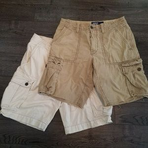 LOT OF 2 American Eagle cargo shorts size 32